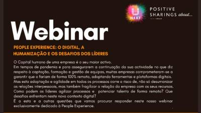 Webinar UNEXT Positive Sharings about... People Experience